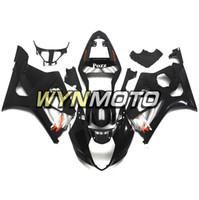 motos gsxr plasticos al por mayor-Lustre negro ABS plástico inyección carenados de motocicletas para Suzuki GSXR1000 K3 2003 2004 03 04 Cubiertas gsxr 1000 casquillos de carenados de motocicleta