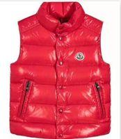 baby unten weste großhandel-Hi-Q (hohe Qualität) M Marke Kinder Winter verdicken Westen Baby 90% Ente Daunenjacke Weste Mantel für Kinder 110-150 cm