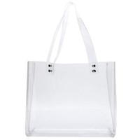 ingrosso borse in plastica in pvc-Tote Bag Clear per borse da lavoro in plastica