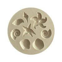 ingrosso stampi di stella-Stampo per torta di stelle marine Conch di mare biologico Conchiglie di mare Torta al cioccolato Stampo in silicone Stampo in cioccolato fai da te Utensili da cucina a forma di torta