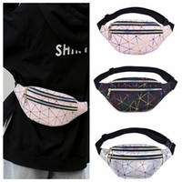 5d9eaed9fbf5 Wholesale fish packing boxes online - Geometric Waist Bag Rhomboids  Holographic Fanny Pack PU Laser Reflective