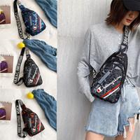 cinturones de lona de marca para hombres al por mayor-Marca Champion Men Women Chest Bag Pack Canvas Satchel Travel Sports Purse Cross body Shoulder Bag Designer Belt Waist Bag Fanny Pack C82804