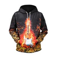 hoodie com desconto venda por atacado-New Style 3D Impresso Fama guitarra Homens desconto homens Hoodies de algodão sobre as vendas quentes
