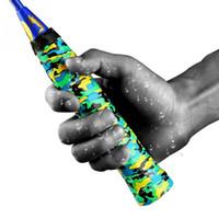 ingrosso nastro aderente-2 pz antiscivolo Sport Over Grip Griffband Tennis Overgrip Tape Badminton Racket Prese Canne Da Pesca Sweatband # 72018