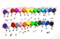 kimliği geçmek toptan satış-27 Renkler Rozet Makara Geri Çekilebilir Kayak Geçiş KIMLIK Kartı Rozeti Tutucu Anahtarlık Makaraları Anti-Kayıp Klip Ofis Okul malzemeleri