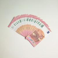 euro spiele großhandel-Gefälschte geld gefälschte eruo requisiten rechnungen kinder lernen spielzeug 10 20 50 100 euro 100 teile / satz gedenkmünze geschenk für party game