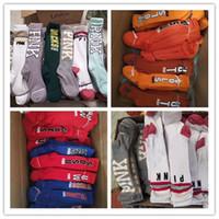Wholesale legs warmers online - Pink Letter Women Socks Knee High Sports Cheerleaders Stockings Love Pink Cotton Leg Warm Stockings Girls Hosiery Fashion Long Socks