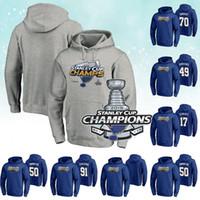 hoodies name großhandel-2019 Stanley Cup Champions ST. LOUIS BLUES Hoodies 91 Vladimir Tarasenko Alex Pietrangelo alle benutzerdefinierten Namen Joel Edmundson Benutzerdefinierte Hoodies