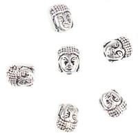 ingrosso oro di buddha-100pcs testa di Buddha piccole perle di metallo in lega spirituale argento placcatura in oro perline distanziatore per accessori collana braccialetto creazione di gioielli fai da te