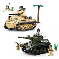blocos de construção militares de brinquedo venda por atacado-347 PCS Technik Tanque de Construção de Blocos de Construção Modelo Figuras Compatíveis Da Marca do Exército WW2 Soldado Arma Polícia Bricks Define Toy Gfit