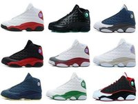 Wholesale silver shoes online for sale - Group buy New s XIII men women Basketball Shoes red Bred He Got Game Black Sneakers Sport Shoes Online Sale