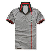 Wholesale new polo t shirt designs for sale - Group buy 2019 New men Design Summer Fashion England men s Plaid Short Sleeve T Shirt High Quality Cotton Print POLO Shirt Pink