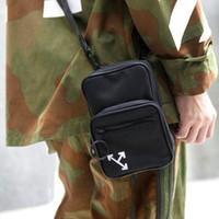 Wholesale men s bag shoulder black resale online - Arrows Cross Body Bag S S Logo Shoulder Bag Black Street Messenger Bag Webbing Strap Industrial Belt
