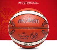 tamanho bola china venda por atacado-Mais novo FIBA Molten China 2019 Basquete copa do Mundo de basquete tamanho 7 Indoor ao ar livre jogo PU treinamento bola de basquete BG3100 caixa de presente