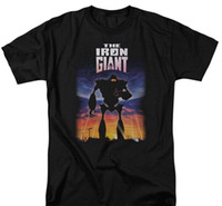 Wholesale giant posters resale online - Iron Giant The Poster Cartoon Adult T shirt Tee Print Streetwear T Shirt Mens Short Sleeve Hot