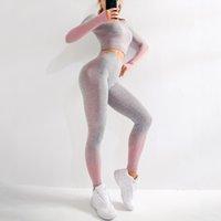 ingrosso vestito sexy del foro-Tuta di BINAND Push Up Sport Suit Thumb Hole sportivo per le donne senza giunte sexy di ginnastica Set Yoga allenamento fitness Abbigliamento Donna