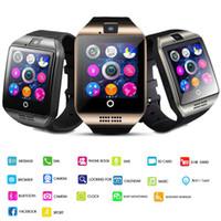 ios wristwatch venda por atacado-Q18 smart watch relógios bluetooth smartwatch relógio de Pulso com Câmera TF Slot Para Cartão SIM / Pedômetro / Anti-lost / para apple android telefones