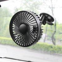 Wholesale fan noise resale online - Car Fan V V Strong Wind Low Noise Summer Adjustable Car Fan with Clip Sucker Air Cooling Accessories OX