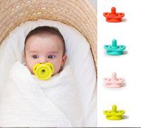kinder nippel großhandel-Grad-Silikon-lustiger Baby-sicherer Nippel-Friedensstifter scherzt einziehende Nippel-nette Beruhigungssauger für neugeborenes Baby-Jungen