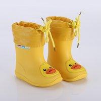 meninos sapatos quentes venda por atacado-Botas de chuva Crianças Para As Meninas À Prova D 'Água Sapatos de Água Do Bebê Meninos Não-slip Botas De Borracha Crianças Quentes Rainboots Quatro Estações Removíveis Y19051303