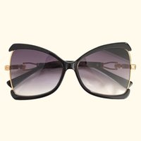 eyewear frames schmetterling stil großhandel-Frauen Schmetterling Sonnenbrille Neue Stil Design Mode Marke Große Rahmen Sonnenbrille 2019 Hohe Qualität Shades Für Dame Vintage Eyewear 4285