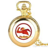 Wholesale superman stainless watch for sale - Group buy Creativity Gold Pocket Watch for Men Unique Superman Pattern Alloy Pocket Watches for Boy Fashion Quartz Watch Pocket Best Gift for Teenag