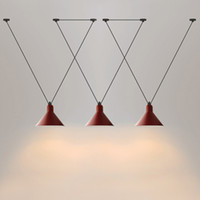 luminarias vintage al por mayor-luces colgantes de la vendimia Loft hierro Polea lámpara Barra de cocina Decoración Hogar E27 Edison luminarias gratuito Shipping110v `` 260V
