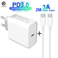 Wholesale macbook laptop white for sale - Group buy USB C Power Adapter PD QC3 W W W W W TYPE C Wall Charger For USB C Laptops MacBook iPad iPhone Samsung USB C cable