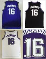 308d51385643 NCAA Sacramento 16 Peja Stojakovic Jerseys Uniforms For Sport Fans Shirt  Rev 30 New Material Team Away Purple Black White