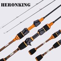haste ul venda por atacado-Heronking carbono ul haste de fiação 1.68 m1.8 m ultralight hastes de spinning ultra leve vara de pesca de fundição vara de pesca