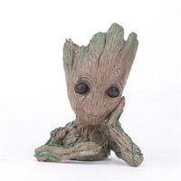Wholesale anime avengers online - The Avengers Figures Groot Plant Tree Figure Anime Movie Ornament PVC Kids Fashion Popular Hot Sale yx D1