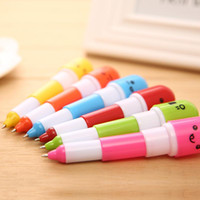Wholesale pill ball point pens for sale - Group buy Creative Retractable Ball Pen Point Cartoon Telescopic Face Pills Pen for Kids Gift New Office Supplies