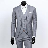 homens vestido profissional venda por atacado-2019 novo terno terno, terno de negócio de três peças dos homens, terno profissional, magro groomsman vestido de casamento # 23
