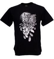 Wholesale flying birds art online - Owl Vision Bird Feather Graphic Night Hunter Banksy Street Art Fly Man T shirt New Brand Mens T Shirt Cotton Short Sleeve print
