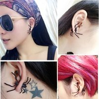 Wholesale black punk ear studs for sale - Group buy 2019 New Punk Earring Black Spider Ear Stud Funny Style Weird Design Earring Decoration Jewelry Accessories for Party RRA1979