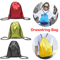 Wholesale soccer drawstring bags for sale - Group buy Drawstring Backpack Bags L Large Capacity Thicken Oxford Cloth Waterproof Storage Bag for Adults Kids Outdoor Activities Gym Sports M36F