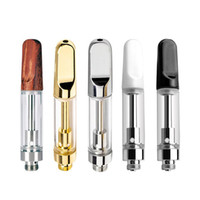 t2 spule dhl groihandel-Vape Pen Cartridges Ölkapazität 0,5 ml 1 ml Pyrex-Glas-Behälter Keramik Coil Vaporizer Atomizer 510 Gewinde Akku E-Zigarette