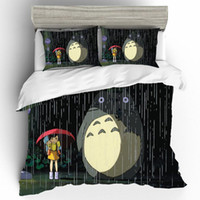 Wholesale totoro bedding for sale - Group buy Cartoon Totoro Bedding King Size Set Linen Comforter Bedding Sets of Childs Cartoon Queen Comforter Sets Luxury Bed Sheet