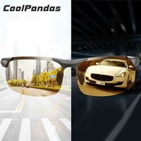 Wholesale magnesium vision resale online - Aluminum Magnesium Photochromic Sunglasses Polarized Night Vision Glasses Men Oculos Driver Yellow Driving Glasses gafas de