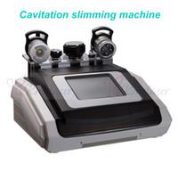 máquinas portátiles de liposucción ultrasónica al por mayor-Máquina portátil de vacío rf 40K cavitación Liposucción ultrasónica máquina de eliminación de celulitis