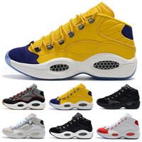 boas sapatilhas de basquete venda por atacado-9 cores new arrival homens sapatilhas pergunta mid allen iverson clássico tênis de basquete boa qualidade zapatillas designer sneakers eur 40-46