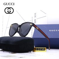gafas de sol claras de protección uv al por mayor-Estilo de verano Italia marca Little bee gafas de sol medio marco mujeres hombres diseñador de la marca protección UV gafas de sol lentes transparentes y lentes de recubrimiento sol