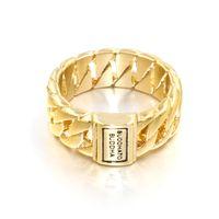 buddha gold großhandel-Niederlande Männliche Ringe Gold Silber Farbe 316LEdelstahl Buddha Ring Punk Biker Schmuck Breite Kette Buddha Ring Für Männer