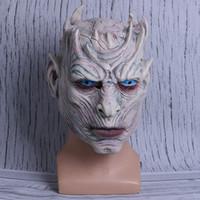 noite jogos trajes venda por atacado-Realista Látex The Game of Thrones Noite Rei Máscaras de Halloween Cosplay Partido Máscara Adulto Rosto Cheio Zombie Ball Costume Máscara Adereços