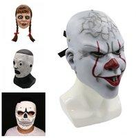 kafatası reçine maskeleri toptan satış-Lateks Kafatası Annabelle Slipknot Maskeler İyi Kalite Reçine Hayalet Yüz Maskesi Terör Korkutucu Yetişkin Cadılar Bayramı Partisi Çok Stil 45py H1