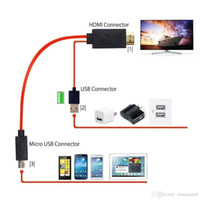 adaptateurs hdmi achat en gros de-Câble adaptateur micro USB à HDMI 1080P HDTV pour Samsung Galaxy S5 / S4 / S3 NOTE3 2