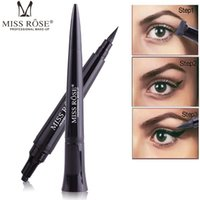 Wholesale Miss Rose Bullet Stamp Eyes Liner Liquid Make Up Pencil Waterproof Black Double ended Makeup Stamps Eyeliner Pencil RRA1817