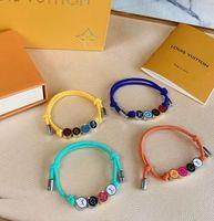 materiais para pulseiras de contas venda por atacado-corda qualidade superior de cores material de Cordas símbolo do infinito contas pulseira ajustável com PS9205 corda de nylon