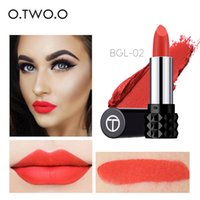 Wholesale purple lipstick brands for sale - Group buy O TWO O Brand Lipstick Matte Velvet Lipstick Moisturizing Lasting Not Blooming Lip Makeup Color Sexy Red