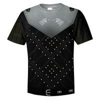 ingrosso maglia di neve jon-T Shirt Jon Snow Shirt Adulto Uomo Donna T-Shirt Manica corta Estate O-collo Nero